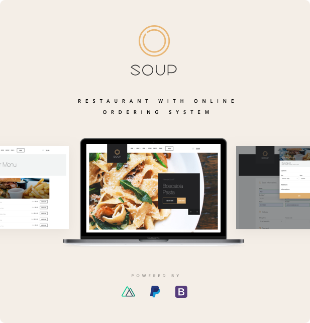 Restaurant with online ordering system