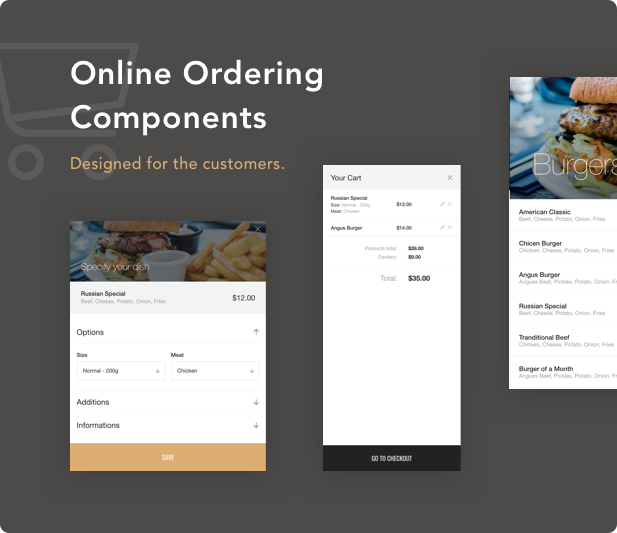 Online Ordering Components